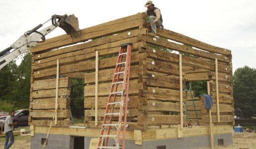 Треска за дървени къщи