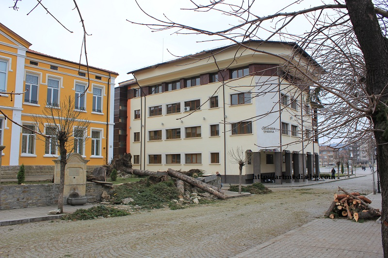 Училището и Общината в Трявна