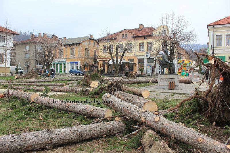 Централният парк в Трявна