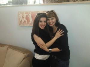 Елица с гръцка журналистка.
