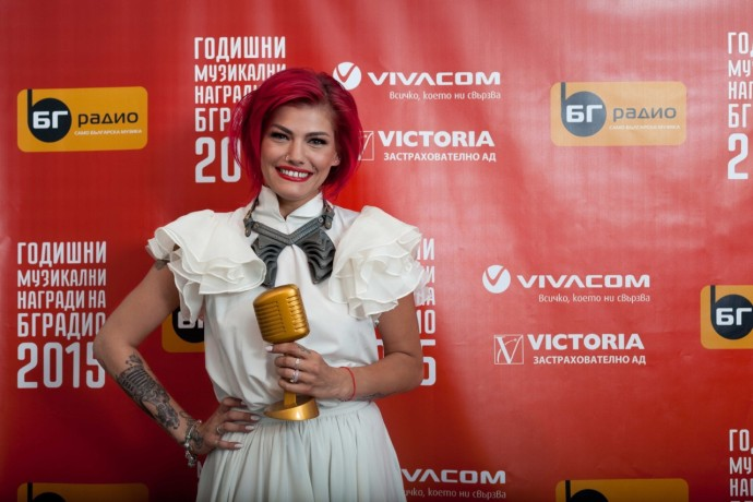 """Жана Бергендорф с награда """"БГ Дебют 2015"""""""